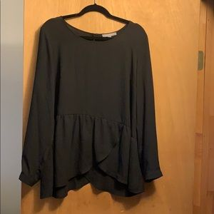 NY Collection black blouse XL NWOT